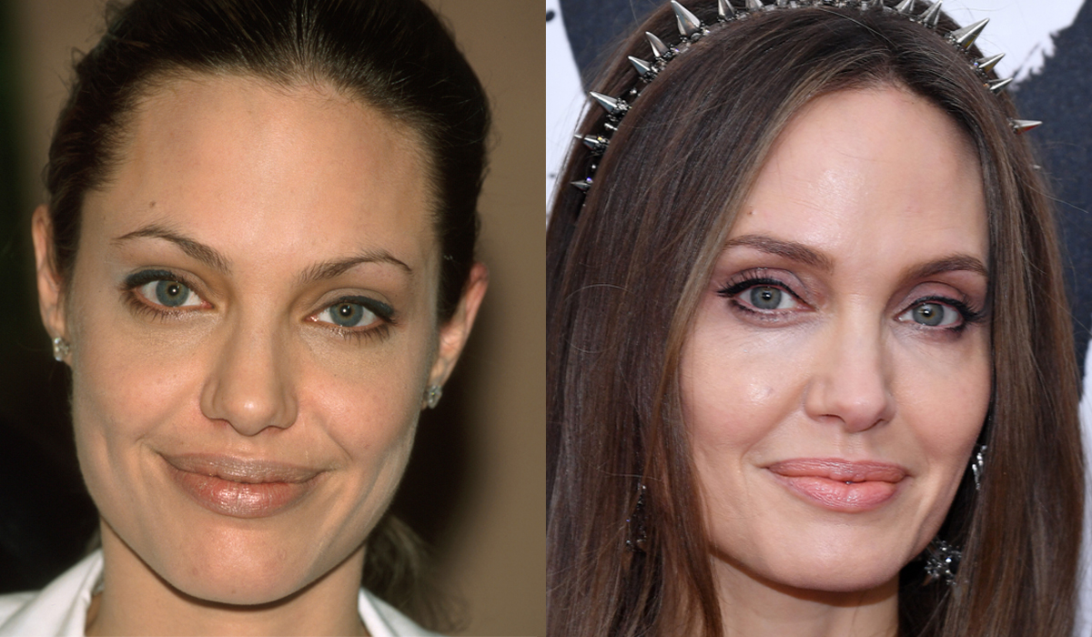 Angelina Jolie Brow transformation