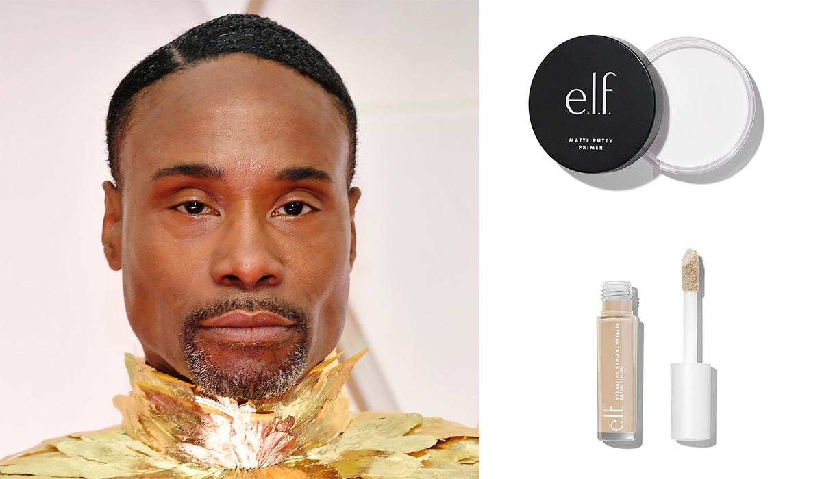 Billy Porter Oscars drugstore makeup