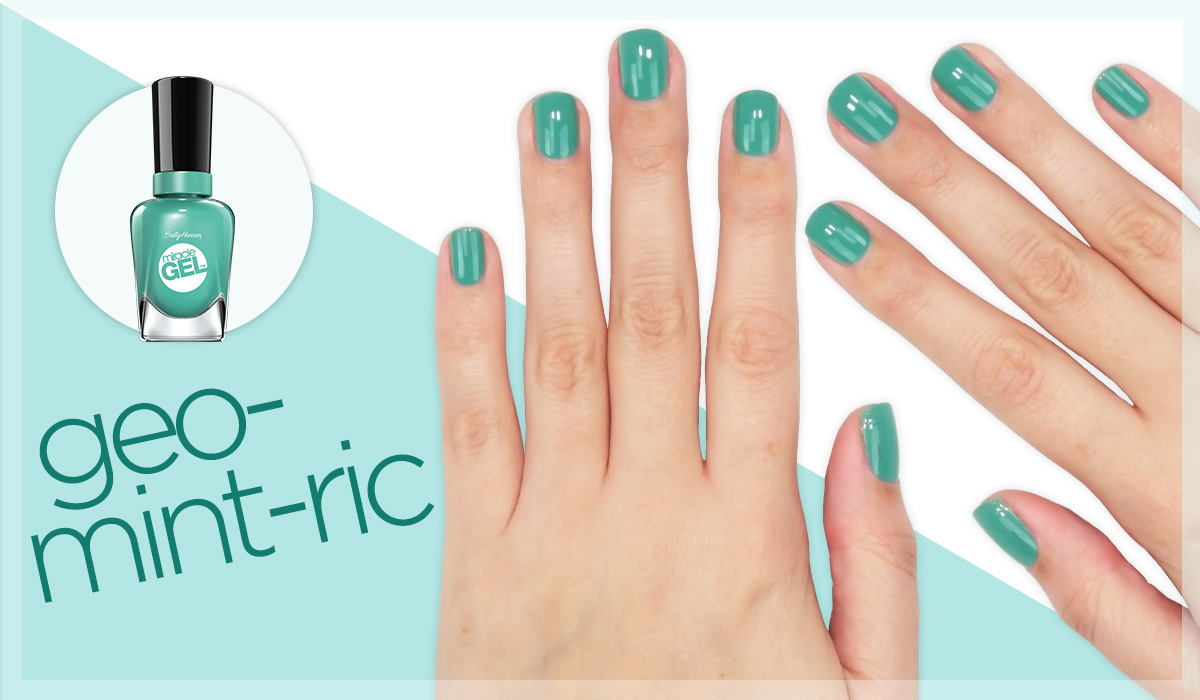 sally hansen miracle gel geo mint ric