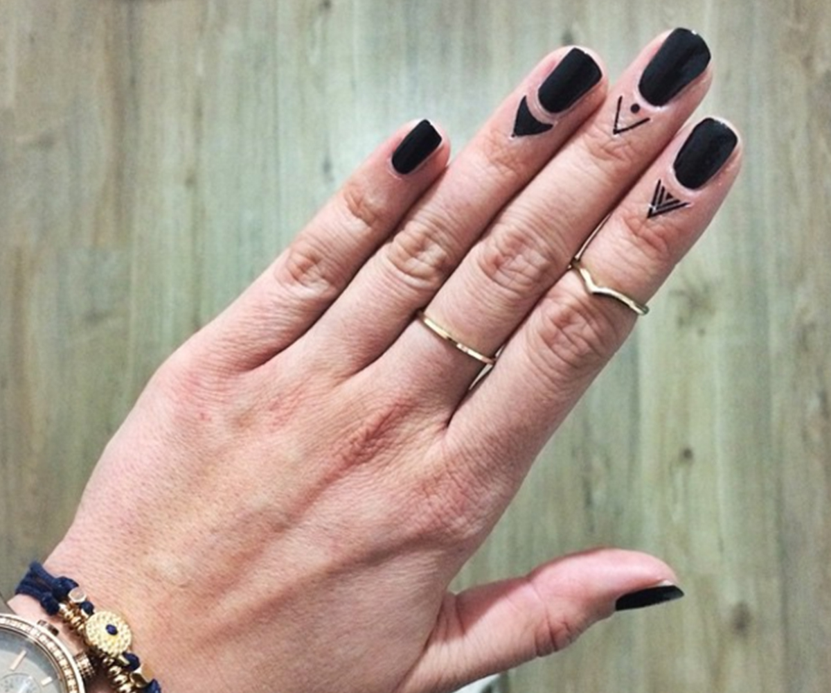 A cuticle tattoo could perfect your manicure