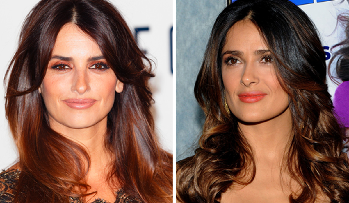 Penelope Cruz and Salma Hayak dark hair