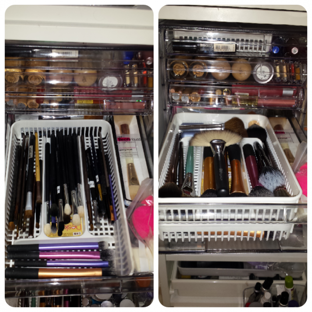 Would love to hear some of your makeup storage tips ) & Makeup Brush Storage