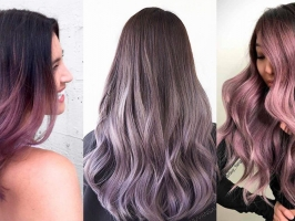 Chocolate Lilac Hair Trend 2019